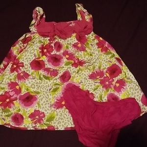 Childrens place dress worn matching diaper cover